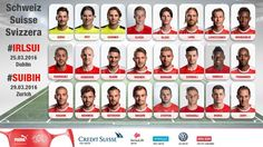 Swiss National Team call up for the games against Ireland and Bosnia. Captain and Leicester DM Gökhan Inler dropped from the squad