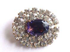 Purple Rhinestone Button Czech Beading DIY by CrimsonVintique, $12.00