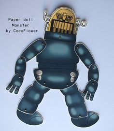 Robot paper paper dolls by Coco_Flower, via Flickr