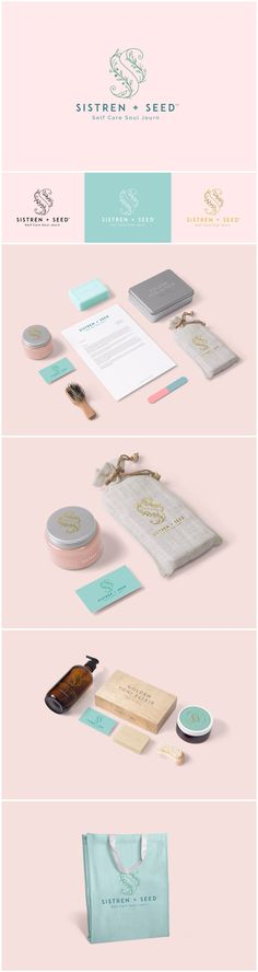 Sistren + Seed Sistren + Seed supports self-care through holistic handmade herbal products and services. Fashion Logo Design, Fashion Branding, Spa Branding, Branding Design, Identity, Skincare Logo, Cosmetic Logo, Seed Packaging, Plant Design
