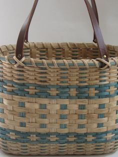 Shopper's Tote-Basket by JGBaskets on Etsy