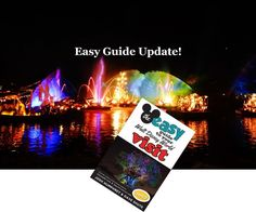 Disney World Guide Book   The easy guide to your Walt Disney World visit is updated several times a year.  After all, things are always changing at Disney World!  Here's the latest update for March 2017!