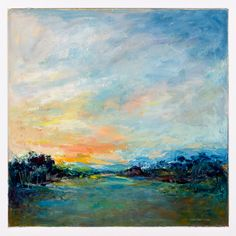 """Christaphora Robeers """"Dawn"""" Oil on Canvas 23 x 23"""" $3,600    On Display at Gallery Flux, 804-752-3540."""
