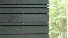 Stained pine exterior siding.  Gorgeous!