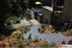 Decorative Concrete Council award winner, Tom Ralston Concrete in Santa Cruz, California for the multiple decorative concrete applications at this pool deck.