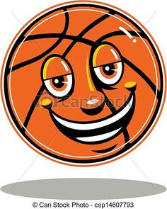 Vector - basketball with cute face - stock illustration, royalty free illustrations, stock clip art icon, stock clipart icons, logo, line art, EPS picture, pictures, graphic, graphics, drawing, drawings, vector image, artwork, EPS vector art