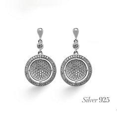 Originales, vistosos y con #anillo a juego, así son estos preciosos #pendientes de #plata, con #circonitas engastadas… ¿no crees?