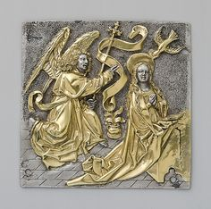 Plaque with The Annunciation  Date: late 15th century Geography: Made in, Upper Rhineland, Germany Culture: German