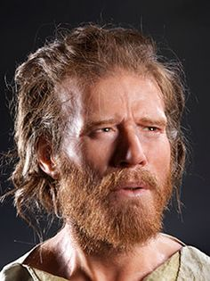 The Reconstructed head of a 5,500 year old man found a mile from Stonehenge in Wiltshire, UK. It is the most advanced reconstruction of a Neolithic man's face to date. 20-40 years of age, slender build, born about 5,500 years ago about 500 years before the circular ditch and banks at Stonehenge were built