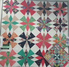 """Just a picture of a cute quilt. Quilt pattern called """"Pickle Relish"""""""