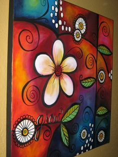 "Artist/Pinner, Darla P writes: ""This painting mostly done with my fingertips for blending. It was messy and fun to x 18 canvas . Wal Art, Painting Inspiration, Painting & Drawing, Time Painting, Art Lessons, Flower Art, Art Drawings, Art Projects, Canvas Art"