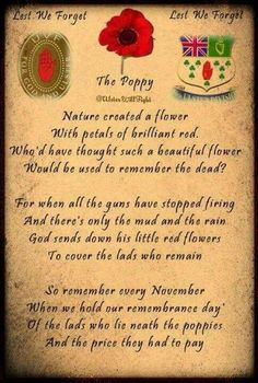 Poppies and Remembrance Day ♥ Lest We Forget. Remembrance Day Photos, Remembrance Day Activities, Remembrance Day Poppy, Poppy Craft, Armistice Day, Anzac Day, We Remember, Memorial Day, Quote Of The Day