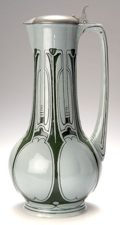 Peter Behrens, stoneware flagon, c. 1904, manufactured by Simon Peter Gerz I