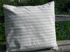 Antique French Fabric Pillow Slip Natural by afarmhouseinfrance, $20.00