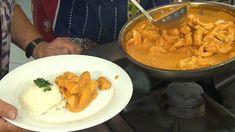 Krůtí nudličky na paprikové smetaně s rýží — Hobby naší doby — Česká televize Meat, Chicken, Red Peppers, Cubs