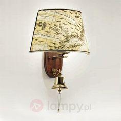 Dekorowana lampa ścienna Nautica z dzwonem 2008126