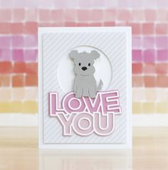 Pup Notes – laurafadora Dog Cards, Baby Cards, Paper Smooches, Handmade Birthday Cards, Handmade Cards, Stampin Up Christmas, Heartfelt Creations, Penny Black, Simon Says Stamp