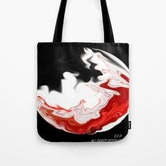 Moon in Fire by Saribelle Rodriguez Tote Bag by Saribelle Inspirational Art | Society6