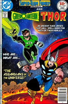 """Super-Team Family: The Lost Issues!: Green Lantern and Thor in """"The Asgardians of the Universe!"""""""