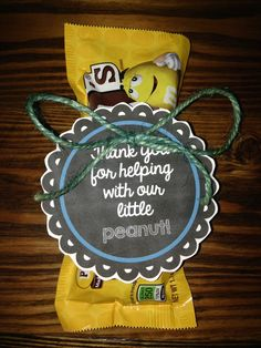 """Simple gift for labor & delivery nurses. """"Thanks for helping with our little peanut!"""" #baby #nurses"""