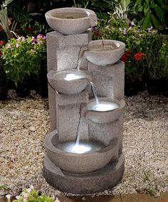 Look at this Five-Tiered Bowl Lighted Fountain on #zulily today!