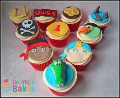 pirate map cup cake | Jake & The Neverland Pirates Cupcakes - by DollybirdBakes @ CakesDecor ...