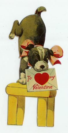 21 Vintage Valentine Card Dog with Love Message Head Springs Forward 6' Height | eBay