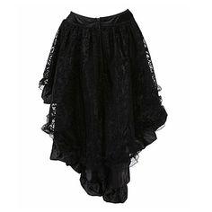 2017 Elegant Black Steampunk Gothic Lace Corset TUTU Sexy Cheap Mermaid Skirts match corsets Wholesale Plus Size 6XL - MISS LADIES