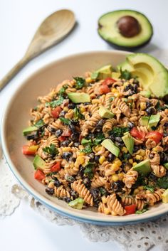 Healthy Southwest Pasta Salad with Chipotle-Lime Greek Yogurt Dressing