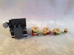 Lego Kitchen: Oven w/Door; 4 Burgers: Small, Medium, Large & Extra-Large 52 Pcs. #Lego