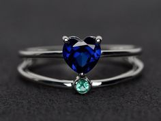 Items similar to sapphire ring blue sapphire engagement ring heart cut gemstone ring sterling silver September birthstone ring on Etsy Blue Sapphire Rings, Blue Topaz Ring, Blue Rings, Sterling Silver Rings, Silver Jewelry, Gemstone Jewelry, Modern Jewelry, Rose Gold Promise Ring, Heart Engagement Rings