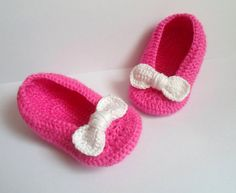 BABY PINK SHOES, Baby Crochet Shoes, Baby Girl Gift on Etsy, $14.50