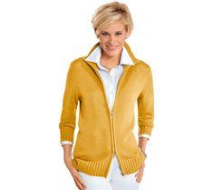 Pletený kabátek Collection L. | vyprodej-slevy.cz #vyprodejslevy #vyprodejslecycz #vyprodejslevy_cz #collectionl #fashion #moda #svetr Casual Looks, Men Sweater, Athletic, Zip, Vest, Sweaters, Jackets, Style, Products