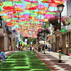 THE UMBRELLA COVERED WALKWAY IN PORTUGAL