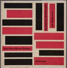 Realistische Weltliteratur der Gegenwart Otl Aicher (German, 1922-1991)  1949-51. Photolithograph