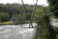 Three Wire Bridge, Hollyford Track, South Island, New Zealand. #newzealandtrails #activeadventures #hollyfordtrack #besthikingtrails #bestwalkingtrails