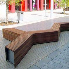 Parallel 42 Bench - Artform Urban #artformurban #streetfurniture
