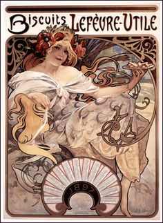 Mucha - Biscuits Lefèvre-Utile - 1896