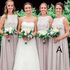 Elegant Floor-length Lace Top Sleeveless Simple Cheap Chiffon Bridesmaid dresses, BD0514#bridesmaids #bridesmaiddress #bridesmaiddresses #dressesformaidofhonor #weddingparty #2020bridesmaiddresses