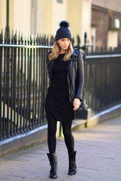 Robe noire grande taille chic élégante idée tenue