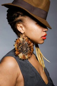 Loc love......Love her look, especially the earrings!