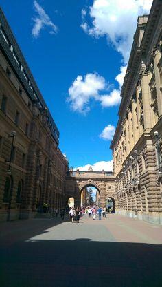 Walking along #Sweden Parliament