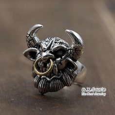 Silver Minotaur Ring, Silver Tauren Ring, Unique Handmade Silver Jewelry, Men's Jewelry, Gift for Him, Wholesale Available