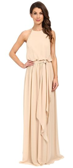 Donna Morgan Alana Drape Blouson Gown (Champagne) Women's Dress - Donna Morgan, Alana Drape Blouson Gown, W2190M-282, Apparel Top Dress, Dress, Top, Apparel, Clothes Clothing, Gift, - Fashion Ideas To Inspire