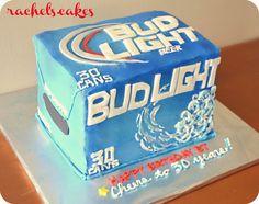 Bud Light 30 Pack Birthday Cake - Cheers to 30 years!!! :) *Rachel's.Cakes*