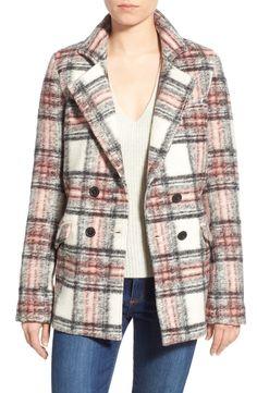 Paige Denim 'Leona' Wool Blend Double Breasted Coat