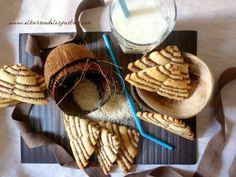 Galletas de coco y cacao