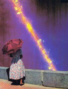 "Saatchi Online Artist Alexandre Coll; Collage, ""Meteor Shower SOLD"" #art"