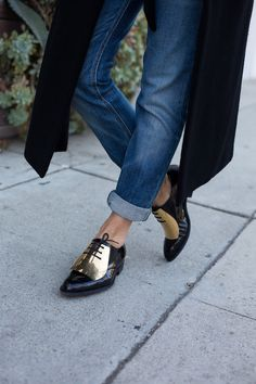jeans and gold brogues ...now go forth and share that BOW & DIAMOND style ppl! Lol. ;-) xx
