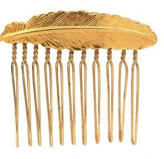 Small Feather Hair Comb.
